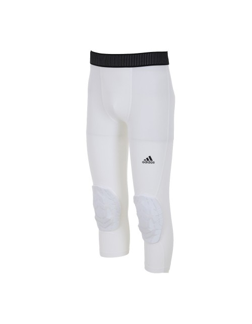 MALLAS 3/4 ADIDAS PADDED TIGHT BLANCAS PROTECCION RODILLA