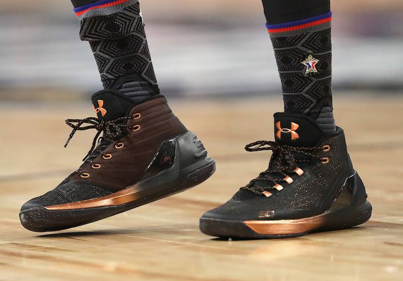 Las zapatillas Under Armor de Curry en el All Star