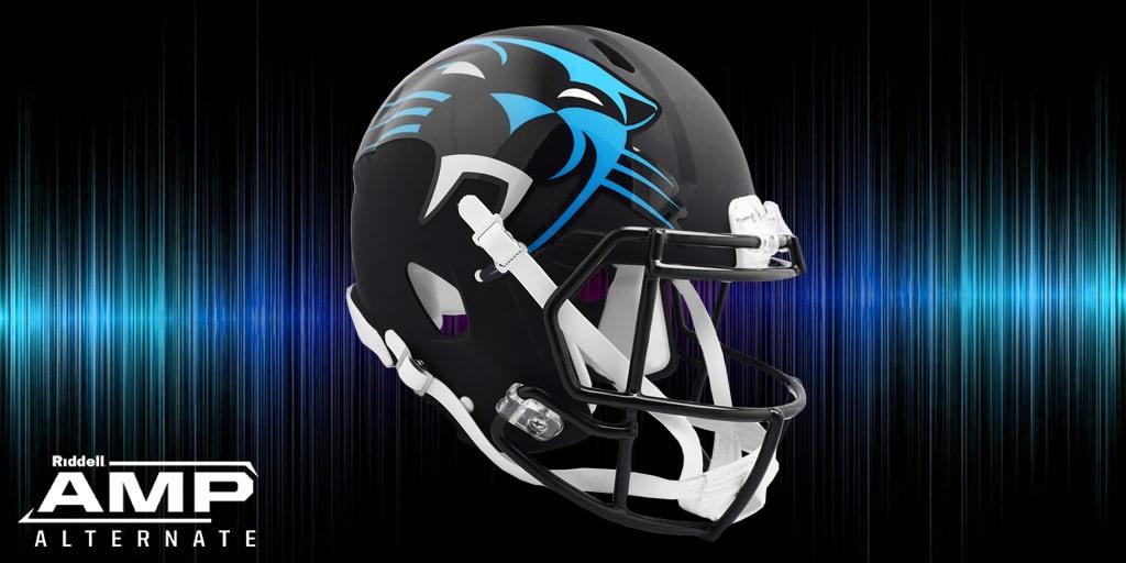 Casco Ridell NFL de Carolina Panthers