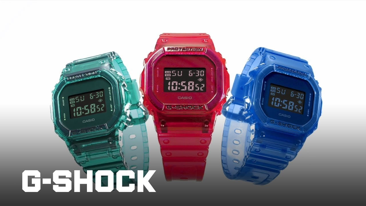 Casio G-Shock Color Skeleton Series