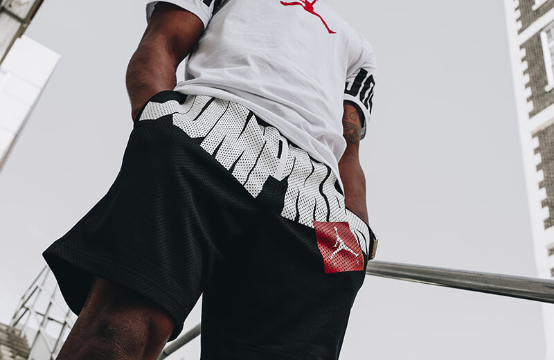 short nike air Jordan mesh