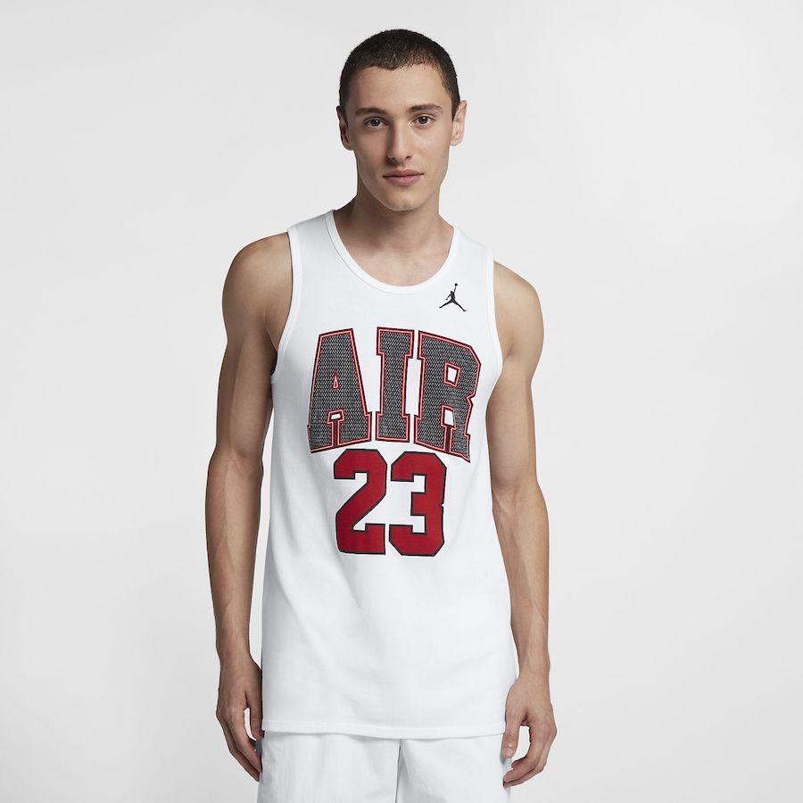 camiseta jordan tirantes en blanco