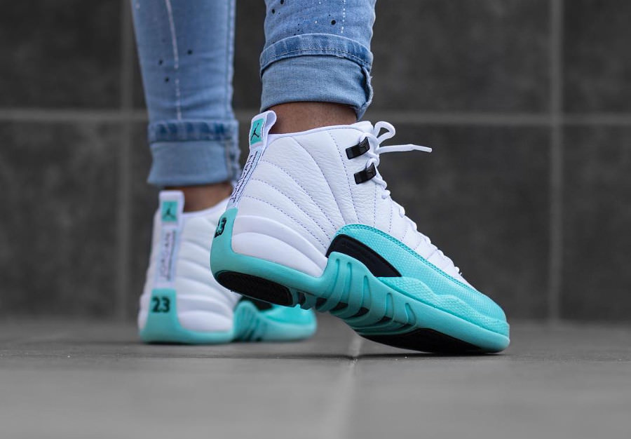zapatillas air jordan 12 light aqua