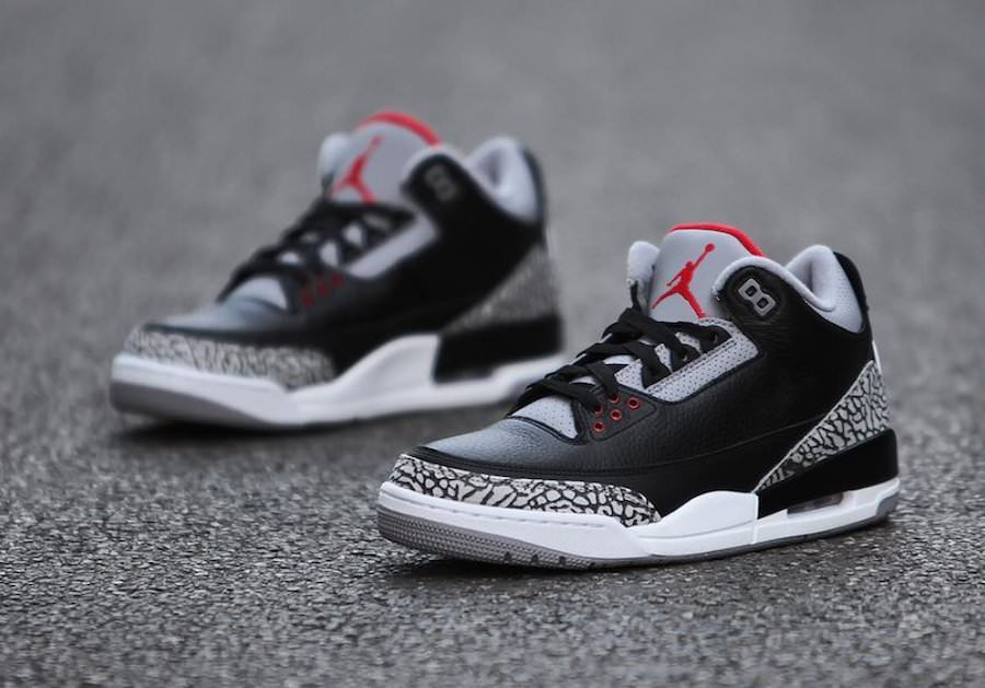zapatillas para niño Air Jordan 3 black cement