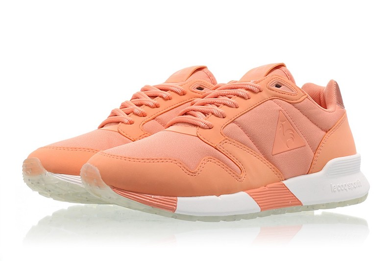 zapatillas le coq para chica en color coral