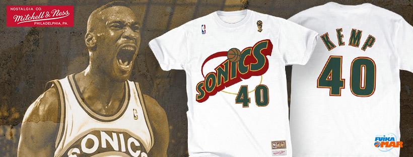 camiseta Shawn kemp Seattle Supersonics