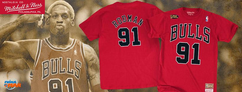 camiseta Rodman Mitchell ness baloncesto bulls