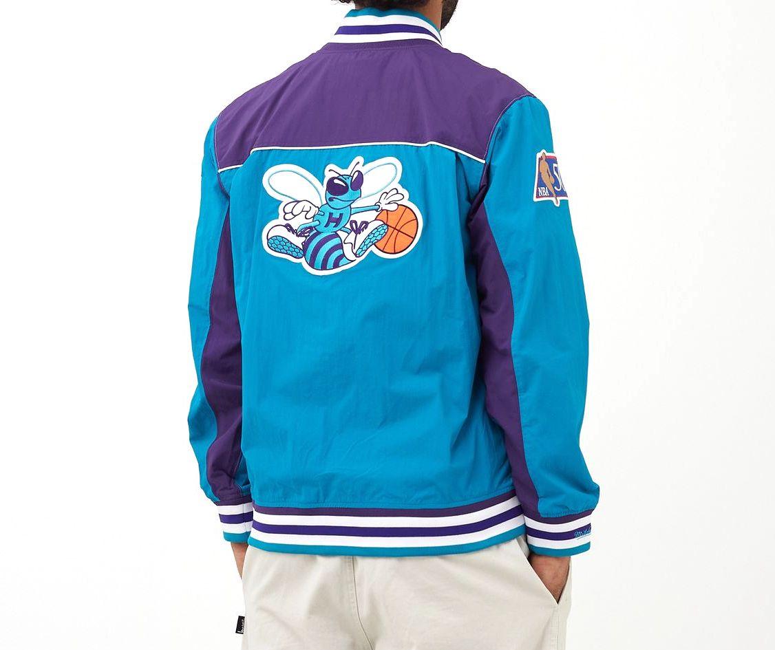 chaqueta baloncesto Hornets Mitchell ness