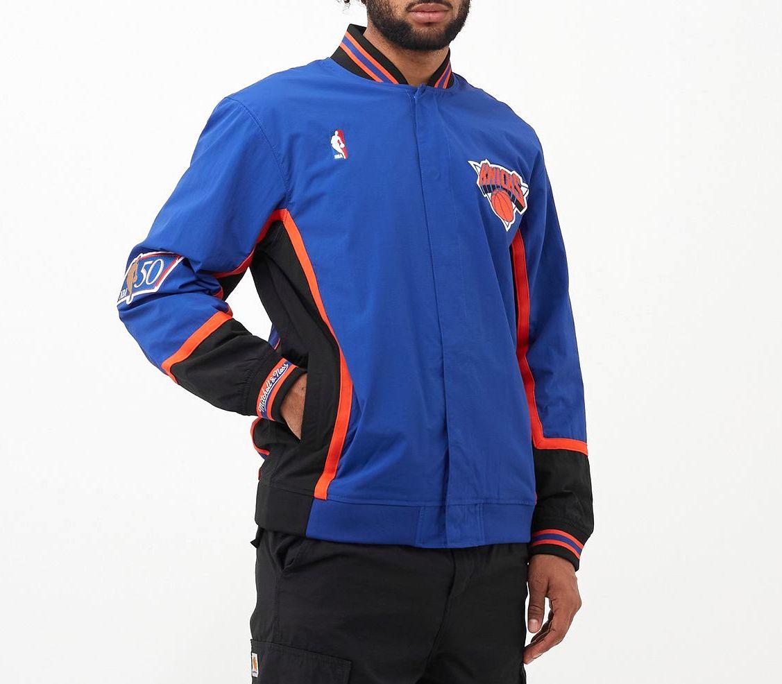 chaqueta New York Knicks warm up