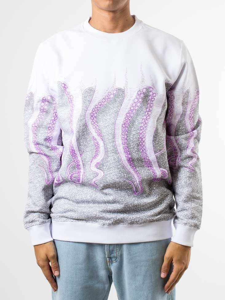 sudadera octopus en color blanco