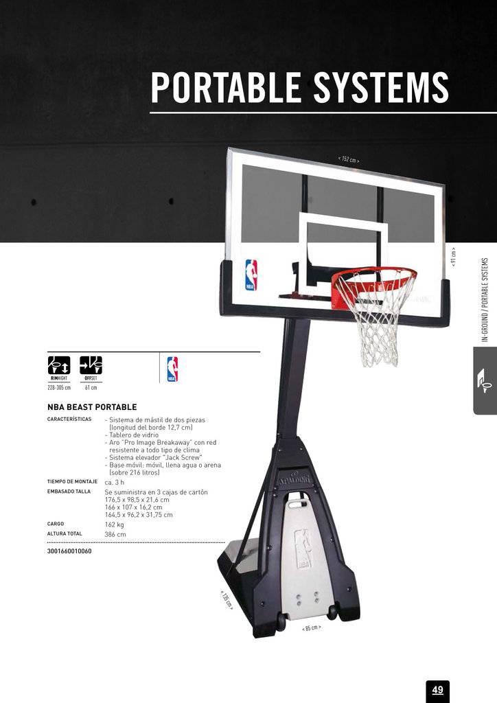 Canasta de baloncesto Spalding