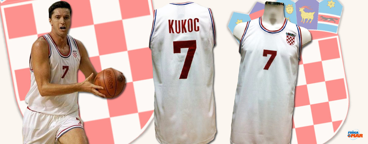 camiseta tony kukoc croacia