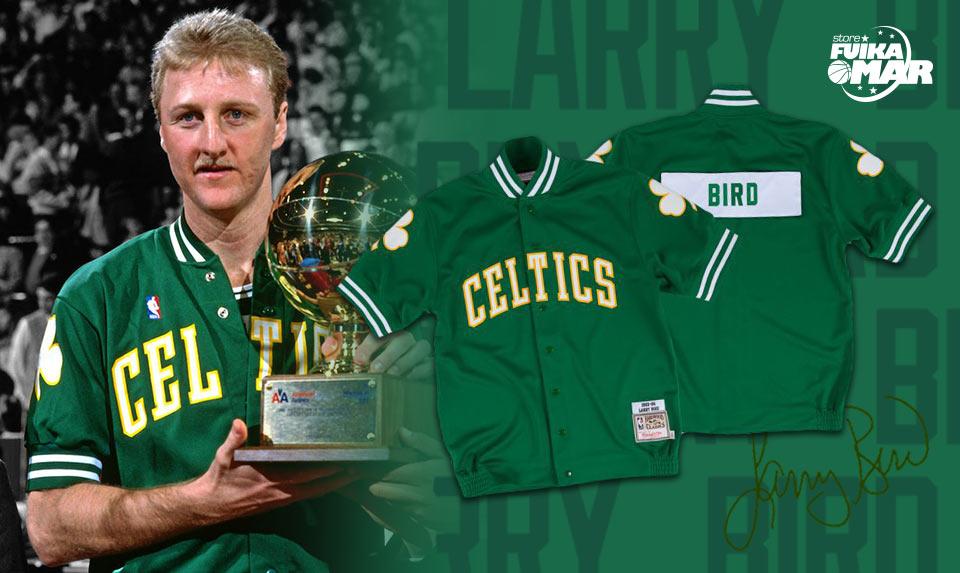chaqueta de tiro Larry Bird Boston Celtics