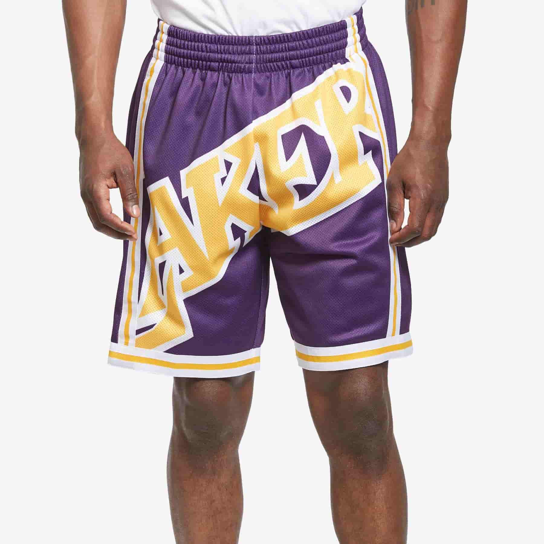 short nba lakers big face mitchell ness baloncesto
