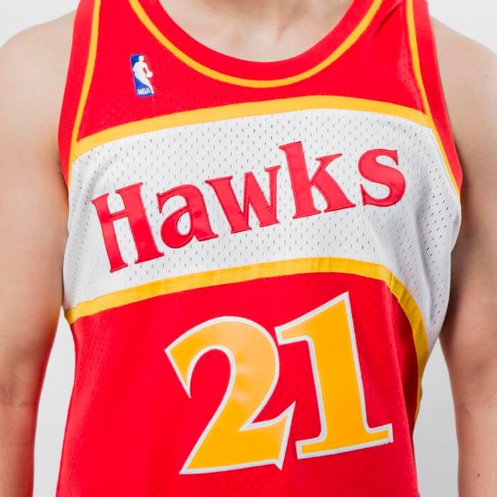 camiseta nba atlanta hawks dominique wilkins