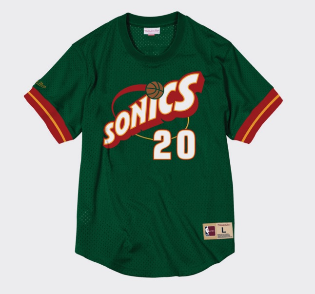 camiseta payton mitchell and ness