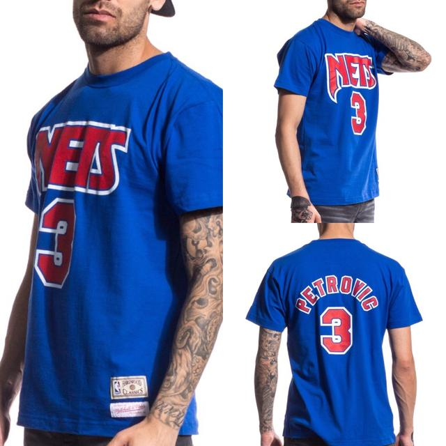 camiseta baloncesto nba drazen petrovic new jersey nets