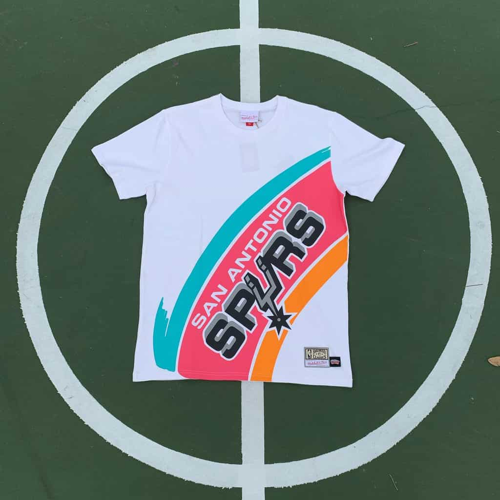 Camiseta Mitchell Ness Spurs Big Face