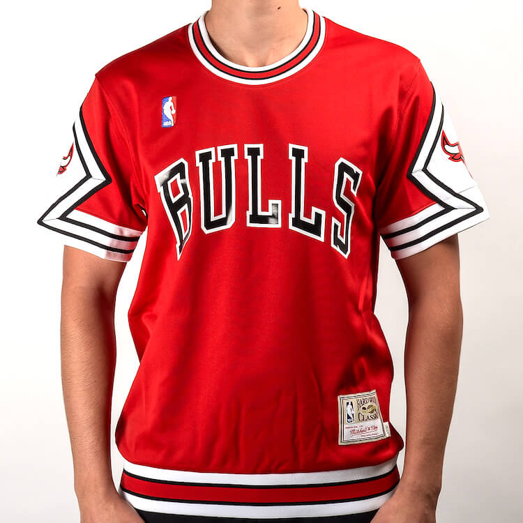 camiseta de tiro autentica chicago bulls mitchell and ness