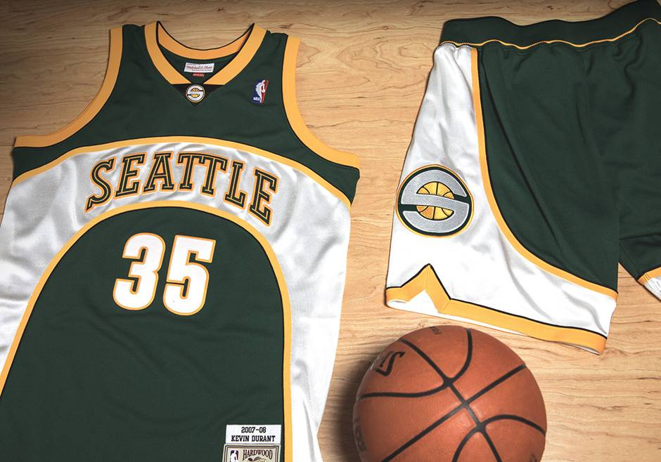 Camiseta authentic de Kevin Durant con los Seattle Sonics