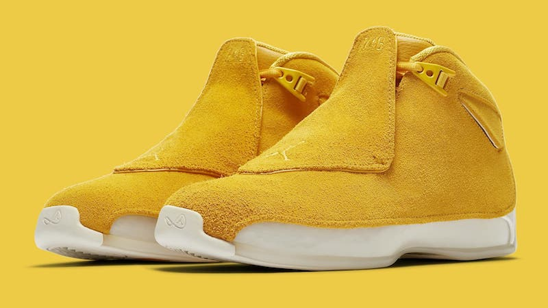 Zapatillas Nike Air Jordan 18 yellow Suede