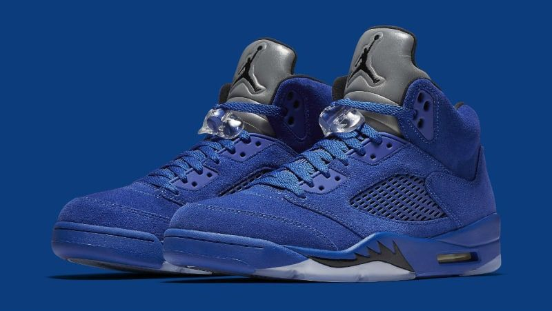zapatillas jordan 5 blue suede