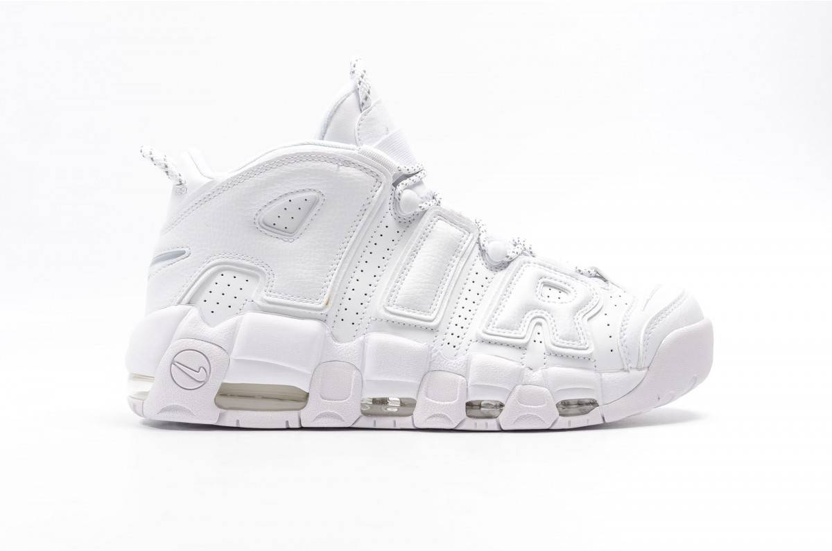 zapatillas nike air more uptempo en blanco