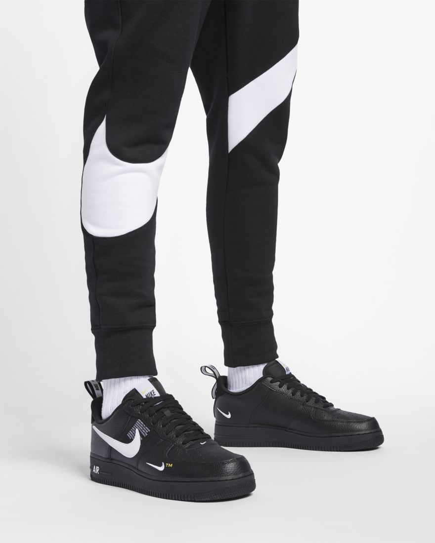 Pantalon Largo Nike Sportswear Con Gran Logo Swoosh En Negro